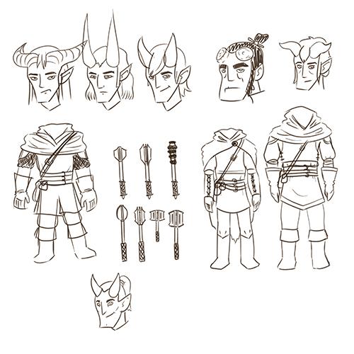 Amnon-TieflingCleric-Sketches